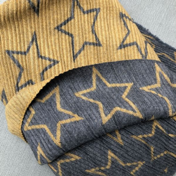 Cosy crinkle effect reversible star scarves  - various colours